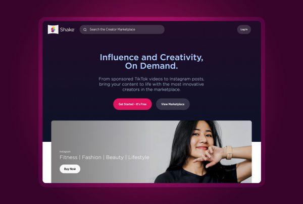 Shake homepage