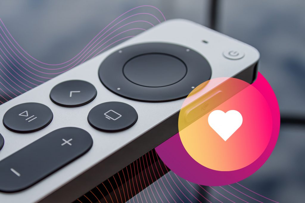 streaming tv remote apple heart